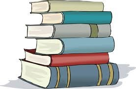 drawn stack of books
